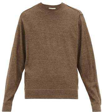 Lemaire Exposed Seam Wool Blend Sweater - Mens - Brown
