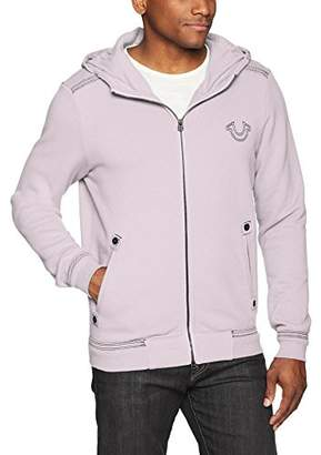 True Religion Men's Hoodie with QT Stitch,L