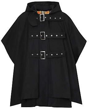 Burberry Women's Hooded 3 Buckle Cape Coat