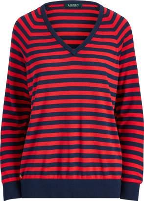 Ralph Lauren Striped V-Neck Sweater