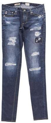 Adriano Goldschmied Low-Rise Printed Leggings