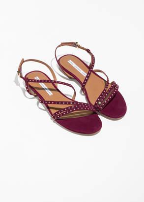 Jewelled Multi Strap Sandals
