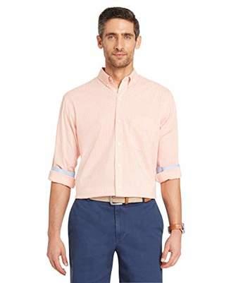 Izod Men's Premium Essential Gingham Long Sleeve Shirt (Big Tall Slim)