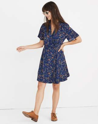 Madewell Amaranth Wrap Dress in Moonless Floral