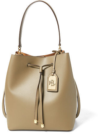 Ralph Lauren Lauren Leather Debby Drawstring Tote