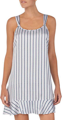 Kate Spade Striped Heart Charmeuse Chemise