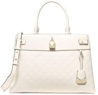 Michael Kors Gramercy Light Cream Large Satchel Bag