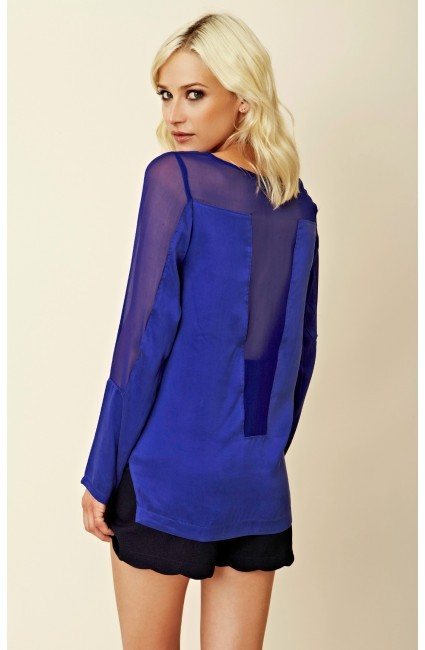 Funktional Luxe Sheer Panel Top
