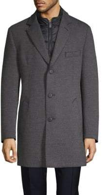 Bugatti Textured Overlay Coat