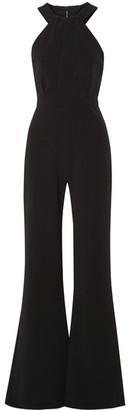 Saloni - Fern Stretch-cady Halterneck Jumpsuit - Black $625 thestylecure.com