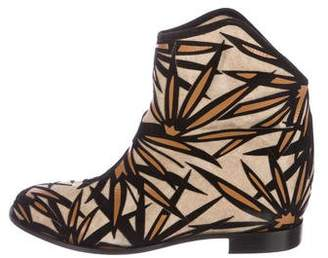 Jimmy Choo Woven Ankle Boots