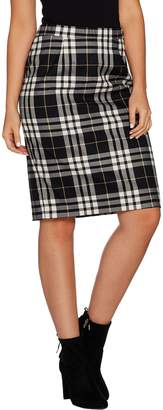 Joan Rivers Classics Collection Joan Rivers Tartan Plaid Slim Skirt