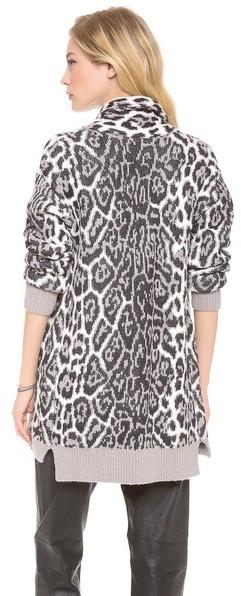 Juicy Couture Wild Lynx Jacquard Cardigan