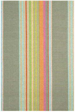 Dash and Albert Rugs Hand Woven Cotton Green Area Rug