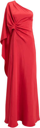 Alberta Ferretti One Shoulder Red Gown