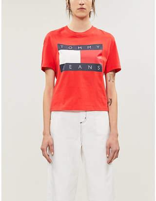 Tommy Jeans Logo-print cotton-jersey T-shirt