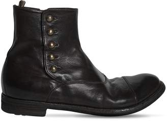 Officine Creative Leather Boots With Side Buttons