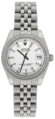 Rolex Datejust Jubilee 178274 Stainless Steel White Stick Dial Midsize 31mm Watch