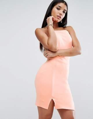 Asos Design Double Split Mini Dress