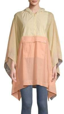 Free People Colorblock Poncho