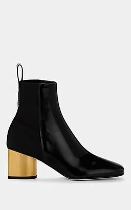 Proenza Schouler Women's Leather & Canvas Ankle Boots - Black Pat.