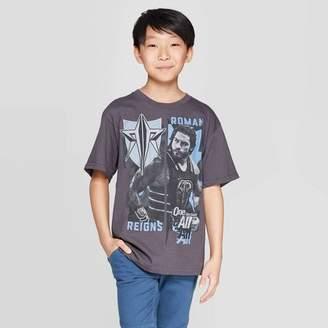 WWE Boys' Roman Reigns Collage Short Sleeve T-Shirt - Gray