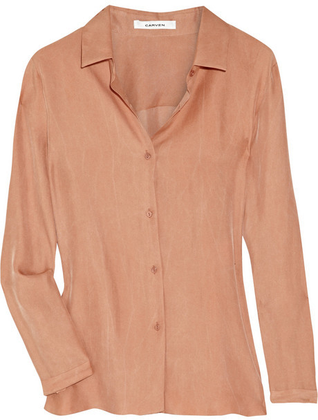 Carven Washed silk-twill shirt