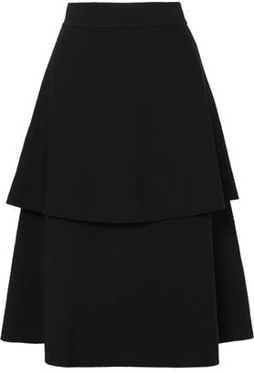 Stella McCartney Tiered Cady Midi Skirt - Black