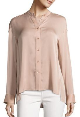 Vince Solid Pintuck Blouse $295 thestylecure.com