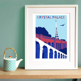 Red Faces Prints Crystal Palace Print In Football Club Colours