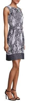 HUGO BOSS Daneki Snakeskin Jacquard A-line Dress