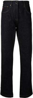 Victoria Beckham satin back straight leg jeans