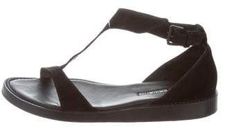 Ann Demeulemeester Suede T-Strap Sandals