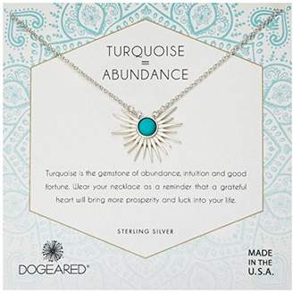Dogeared Women's Sun Ray Turquoise Chain Necklace