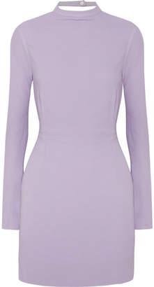 Les Héroïnes - The Billie Tie-detailed Backless Crepe Mini Dress - Lavender