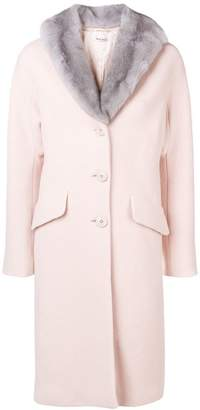 Miu Miu mink fur collar midi coat