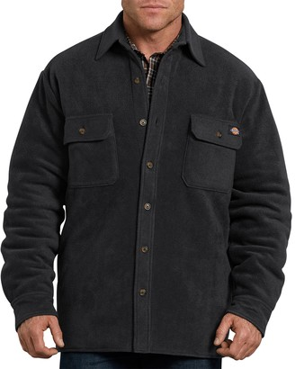 Dickies Men's Relaxed-Fit Fleece Quilted Shirt Jacket