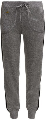 Bella Freud Goldie Libertine Lurex Track Pants - Womens - Silver