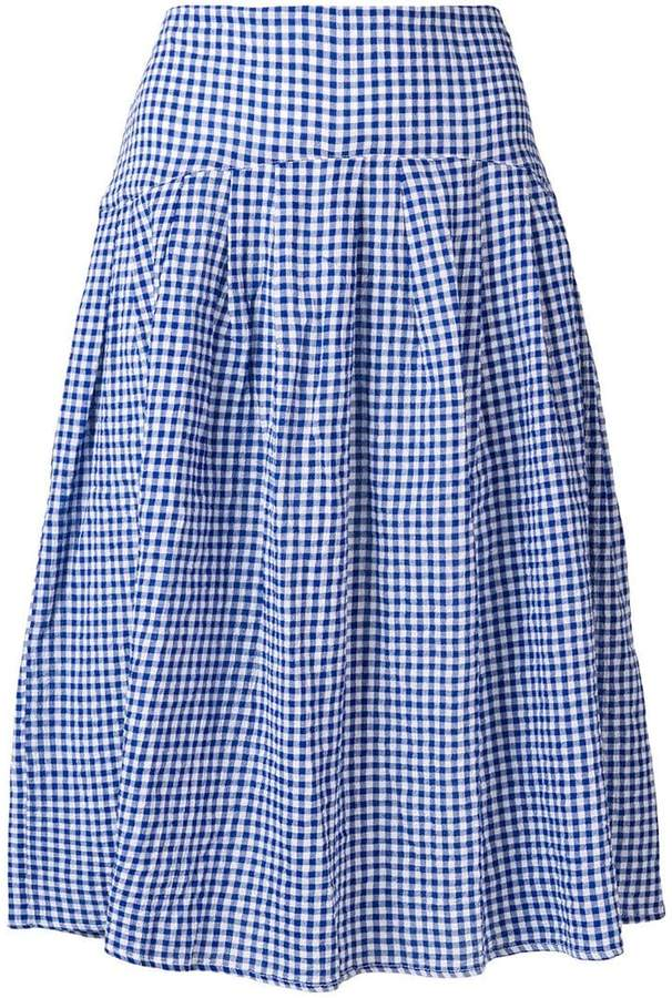 Bellerose gingham midi skirt
