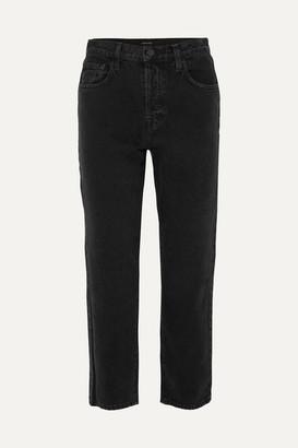 J Brand Wynne High-rise Cropped Straight-leg Jeans - Black