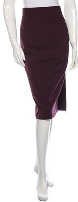 Jean Paul Gaultier Wool Midi Pencil Skirt $65 thestylecure.com