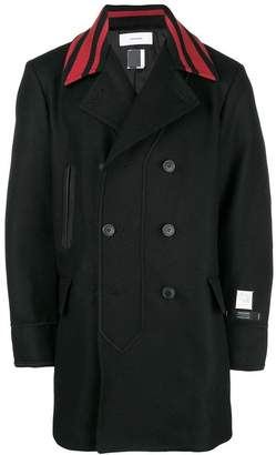 Facetasm double breasted coat