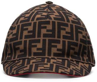 Fendi brown FF logo cotton baseball cap 9abcc606a71b
