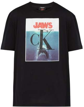 Calvin Klein Jaws Cotton Jersey T Shirt - Mens - Black