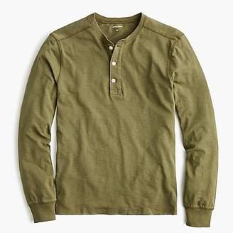 J.Crew Tall garment-dyed slub cotton henley