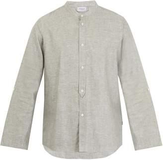 Zimmerli Cotton and linen-blend pyjama top