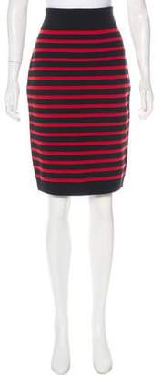 Marc by Marc Jacobs Merino Wool Striped Skirt
