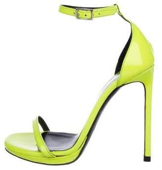 Saint Laurent Jane Patent Leather Sandals