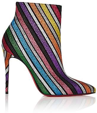 Christian Louboutin Women's So Kate Glitter-Striped Ankle Boots