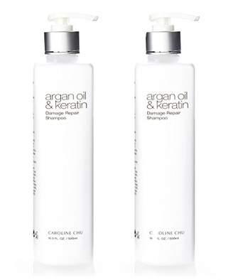 Caroline Chu Twin Pack Argan Oil and Keratin Damage Repair Shampoo